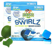 Load image into Gallery viewer, Eco-Swirlz: 24ct Washing Machine Cleaner (Year Supply) Eco-Friendly