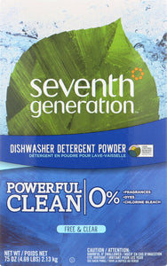 SEVENTH GENERATION: Free & Clear Automatic Dishwasher Powder, 75 oz