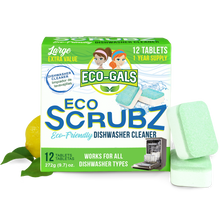 Load image into Gallery viewer, Eco Scrubz: Deep Dishwasher Cleaner (12 Count) Eco-Friendly