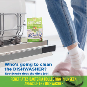 Eco Scrubz: Deep Dishwasher Cleaner (12 Count) Eco-Friendly