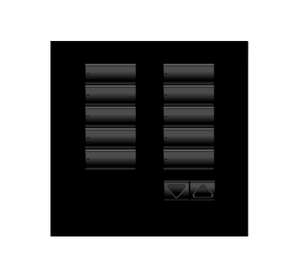Black non-framed 10 button keypad from Lutron company