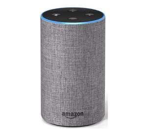 tall amazon echo in heather grey colour