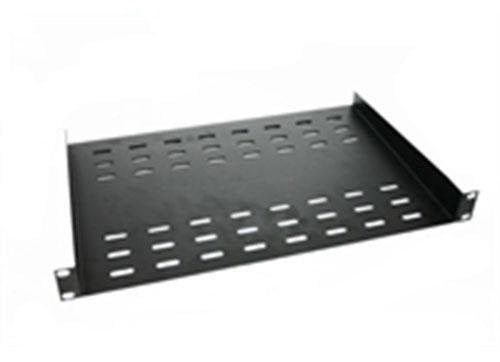 Black AV rack ventilated shelf