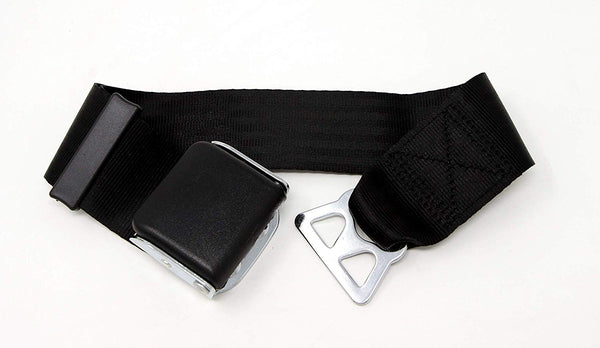 Garen Airplane Seat Belt Extender for Southwest Airlines / E4 Safety Certified with Carrying Case- Black/Type B - Tanaka Power Sport