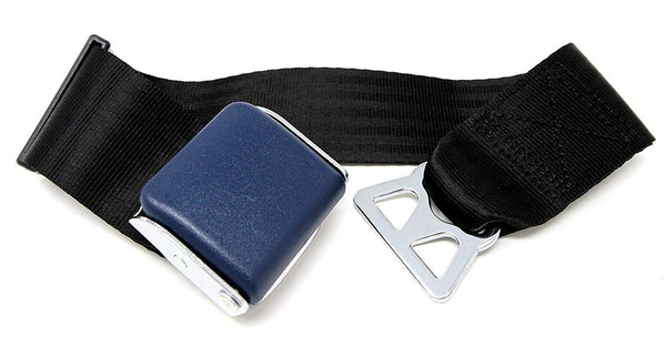 Garen Airplane Seat Belt Extender for Southwest Airlines / E4 Safety Certified with Carrying Case- Blue/Type B - Tanaka Power Sport