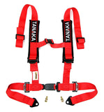 Phantom Series | Buckle 4-Point Safety Harness Set with Ultra Comfort Heavy Duty Shoulder Pads (Red) - Tanaka Power Sport