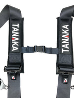 Latch and Link 5 Point Safety Harness with Ultra Comfort Heavy Duty Shoulder Pads and Utility Pockets (BLACK SERIES) - Tanaka Power Sport