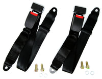 2 x Garen Universal 2-Point Buckle Auto Car Safety Seat Belt Replacement - Tanaka Power Sport