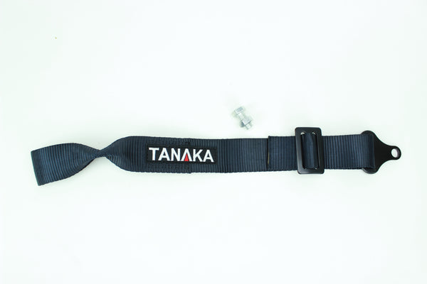 High Strength Racing Tow Strap EXTRA long type (Black) - Tanaka Power Sport