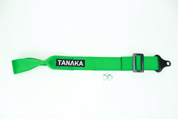 High Strength Racing Tow Strap EXTRA long type (Green) - Tanaka Power Sport