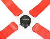 Racing Style 4-point Camlock Racing Harness (Red) - Tanaka Power Sport