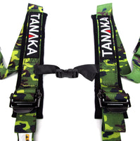 Phantom Series | Buckle 4-Point Safety Harness Set with Ultra Comfort Heavy Duty Shoulder Pads (Camouflage) - Tanaka Power Sport