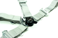 Racing Style 4-point Camlock Racing Harness (Gray) - Tanaka Power Sport