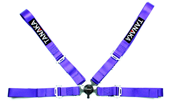 Racing Style 4-point Camlock Racing Harness (Purple) - Tanaka Power Sport