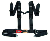 Latch and Link 4 Point Safety Harness with Ultra Comfort Heavy Duty Shoulder Pads and Utility Pockets (BLACK SERIES) - Tanaka Power Sport