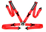 Ultra Series Racing Style 4-Point Camlock Racing Harness (Red) - Tanaka Power Sport