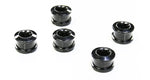 The Flying Wheels Single Bicycle Chainring Bolts - Chrome Black Steel Set of 5 - Tanaka Power Sport