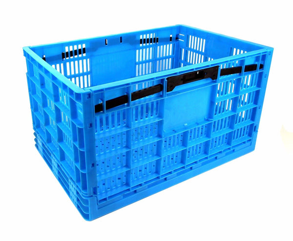Garen Storage Crate / Collapsible, Heavy Duty Plastic construction, Industrial Strength 17.5 Gallon / 66 liter XL size - Tanaka Power Sport