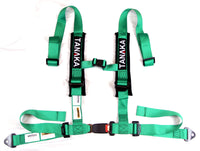 Phantom Series | Buckle 4-Point Safety Harness Set with Ultra Comfort Heavy Duty Shoulder Pads (Green) - Tanaka Power Sport