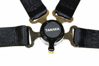 Racing Style 4-point Camlock Racing Harness (Black) - Tanaka Power Sport