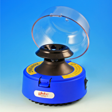 Mini-Centrifuge with 2 Rotors, Blue, 115V