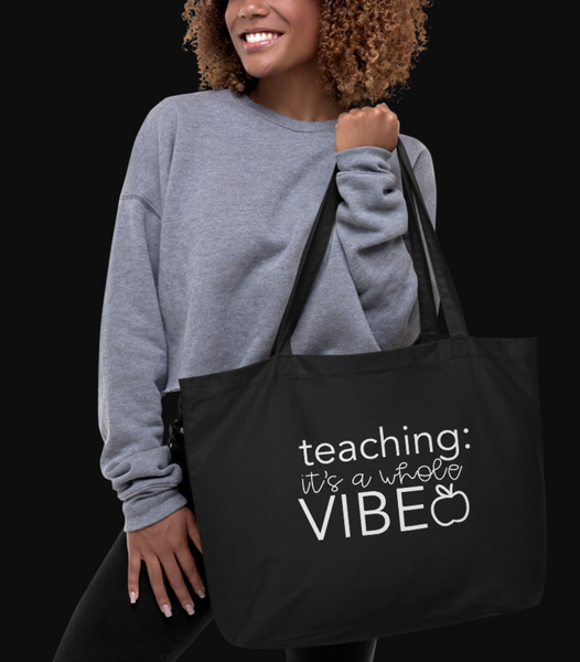 Large organic VIBE tote bag