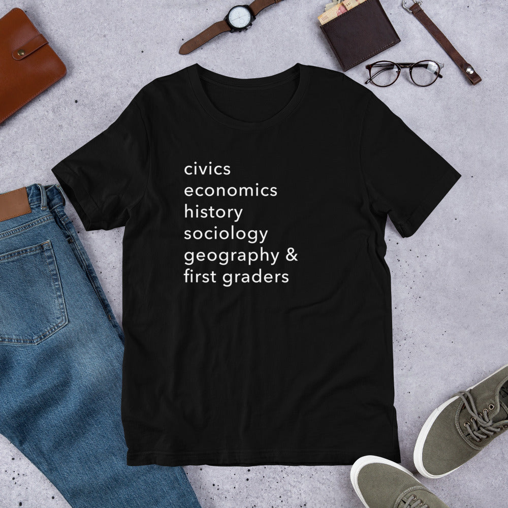civics + geo + first graders tee