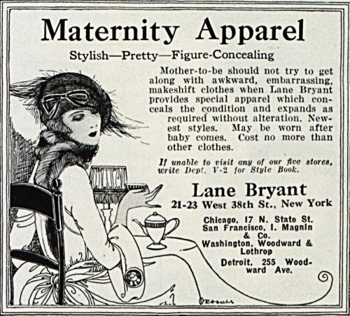Plus Size Clothing Advertisement in the 1920's