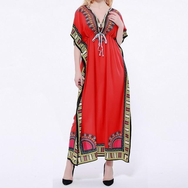 Brilliant Color Kaftan