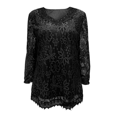 Plus Size Dark Laced top