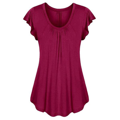 plus size top shirt cotton burgundy red