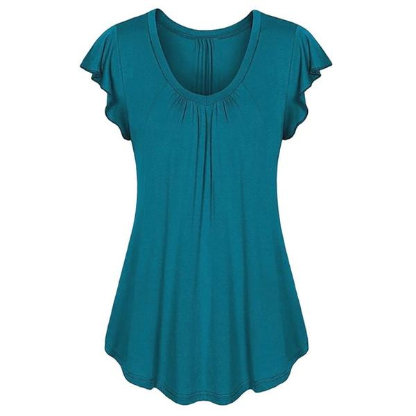 plus size cotton shirt in blue