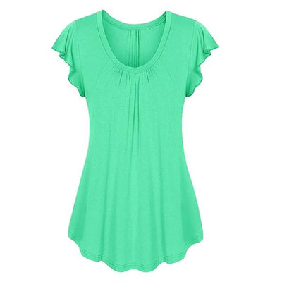 plus size top shirt cotton green