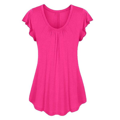 plus size top shirt cotton pink