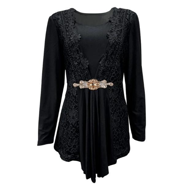 Plus Size black Victorian top
