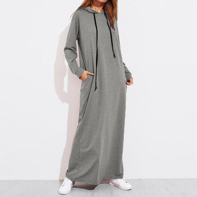 Chillin' Hoodie Maxi Dress