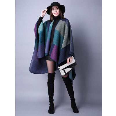 Oversize Supersoft Patchwork Cape