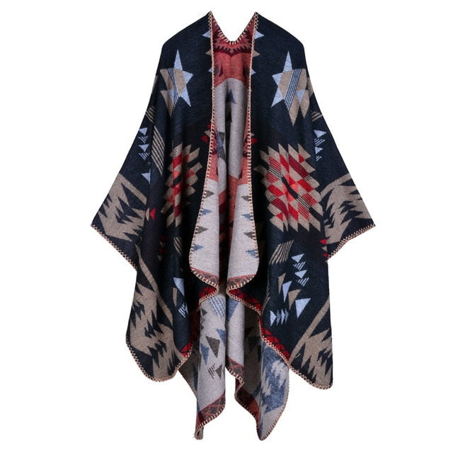 Oversize Super soft Star Flower Cape