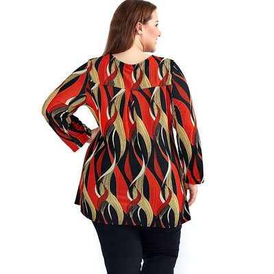Wave Point Print Top