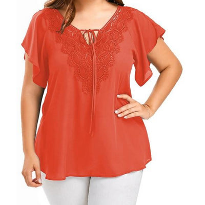 Flutter Sleeve Sheer Blouse