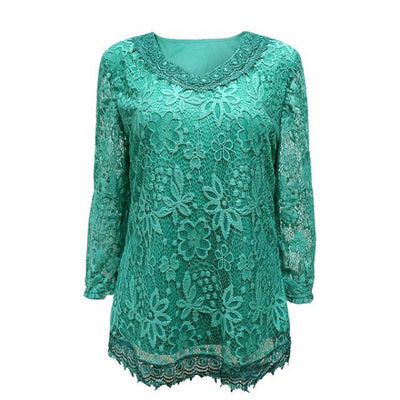 Trendy Crochet Lace Top