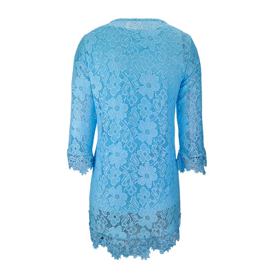 blue lace top plus size