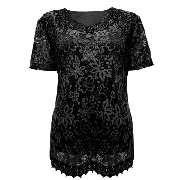 Dark Knight Short Sleeve Lace Top