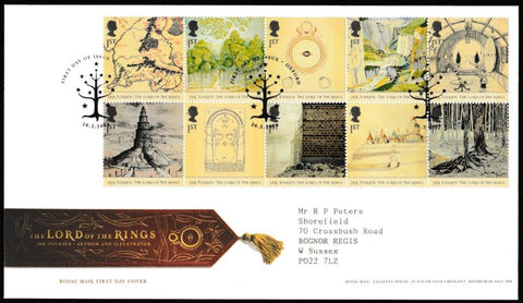 Great Britain First Day Cover, 'Lord of the Rings', Royal Mail, Oxford, 26-Feb-2004