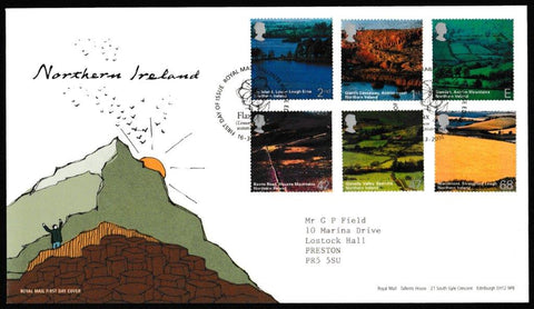 Great Britain First Day Cover, 'Northern Ireland', Royal Mail, Royal Mail, Tallents House, Edinburgh, 16-Mar-2004