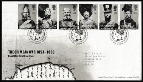 Great Britain First Day Cover, 'The Crimean War 1854-1856', Royal Mail, Royal Mail, Tallents House, Edinburgh, 12-Oct-2004