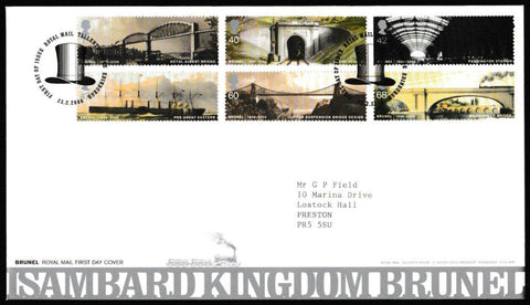 Great Britain First Day Cover, 'Isambard Kingdom Brunel', Royal Mail, Royal Mail, Tallents House, Edinburgh, 23-Feb-2006