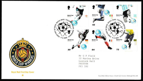 Great Britain First Day Cover, 'World Cup Winners', Royal Mail, Royal Mail, Tallents House, Edinburgh, 06-Jun-2006