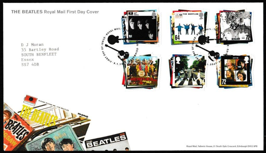 Great Britain First Day Cover, 'The Beatles', Royal Mail, Royal Mail, Tallents House, Edinburgh, 09-Jan-2007