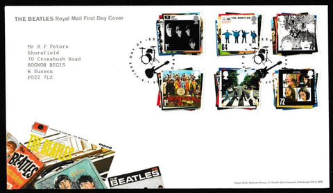 Great Britain First Day Cover, 'The Beatles', Royal Mail, Liverpool, 09-Jan-2007